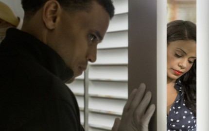 FOR FIRST USE IN USA TODAY - SNEAK PEEK ON JUNE 4, 2015 Michael Ealy (left) and Sanaa Lathan star in the Screen Gems motion pictureTHE PERFECT GUY. Credit: Dan McFadden, Screen Gems ORG XMIT: Michael Ealy (Finalized) [Via MerlinFTP Drop]