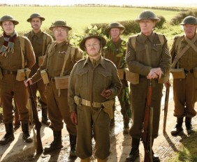 EDITORIAL USE ONLY Undated handout file photo issued by Universal Pictures of characters from Dad's Army, (left to right) Frank Pike (Blake Harrison), Walker (Daniel Mays), Jones (Tom Courtenay), George Mainwaring (Toby Jones), Arthur Wilson (Bill Nighy), Frazer (Bill Paterson), Godfrey (Michael Gambon). PRESS ASSOCIATION Photo. Issue date: Sunday October 26, 2014. See PA story SHOWBIZ Army. Photo credit should read: Universal Pictures/PA Wire NOTE TO EDITORS: Licensed Period: Your Licence to use the material is valid for six months after the date of initial theatrical release in your territory of the film to which it relates. This handout photo may only be used in for editorial reporting purposes for the contemporaneous illustration of events, things or the people in the image or facts mentioned in the caption. Reuse of the picture may require further permission from the copyright holder.